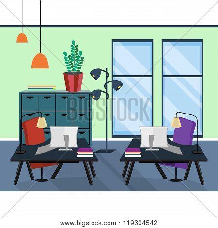 Office interior. Office room