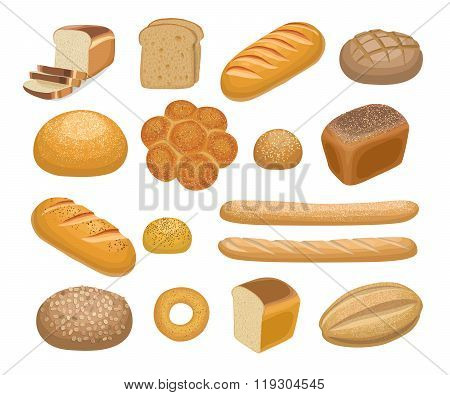 Bread, bakery products. Bread icons. Bread icons art. Bread icons web. Bread icons new. Bread icons www. Bread set. Bread set art. Bread set web. Bread set new. Bakery products set