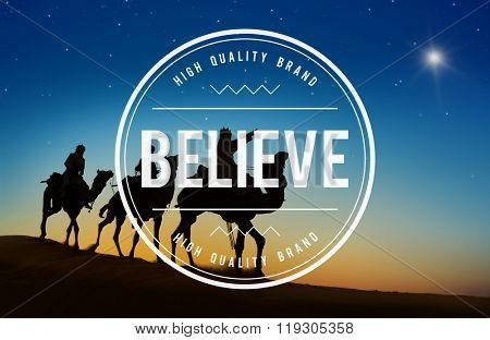 Believe Faith Spirituality Religion Hope Mindset Worship Concept