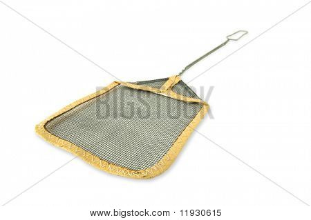 Fly Swatter with Dramatic Perspective Isolated on a White Background.