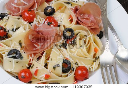 Plate Of Pasta With Jamon