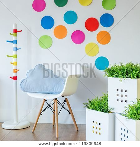 Paper color spots on wall