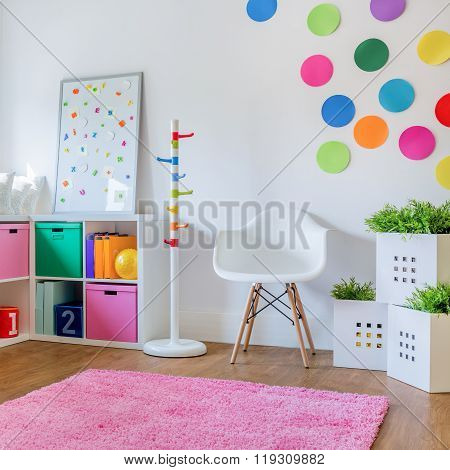 Colorful room for boy or girl