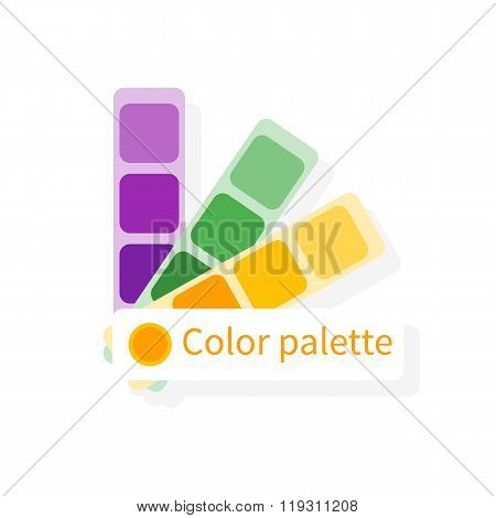 Color Swatch, Color Guide. Vector Colorful Icon, Flat Design. Catalog, Color Palette.