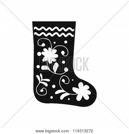 Russian traditional winter felt boots icon
