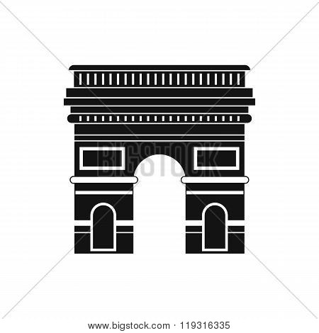 Triumphal arch icon, simple style