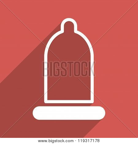 Preservative Flat Longshadow Square Icon