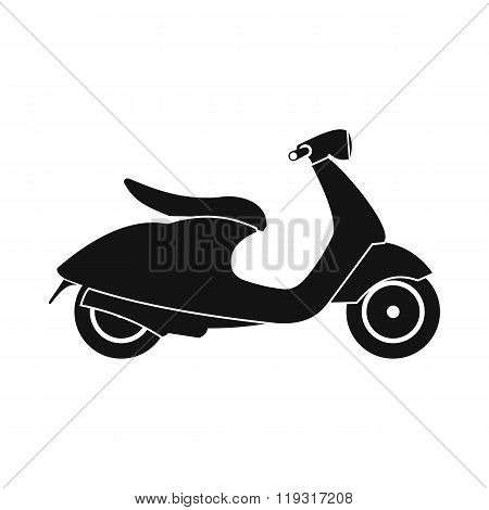 Classic scooter icon, simple style