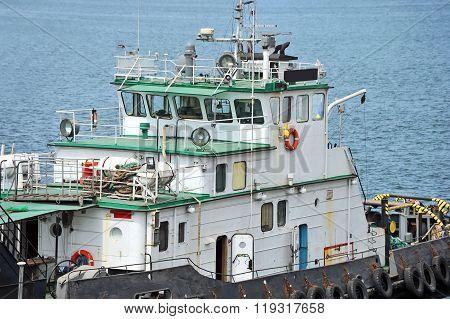 Tugboat On River