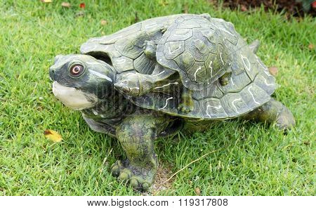 Turtle sculpture for garden decoration