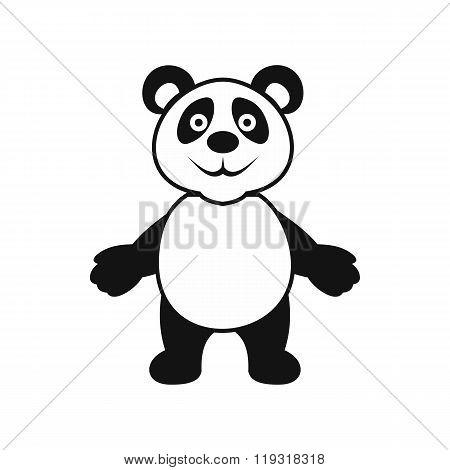 Panda bear icon, simple style