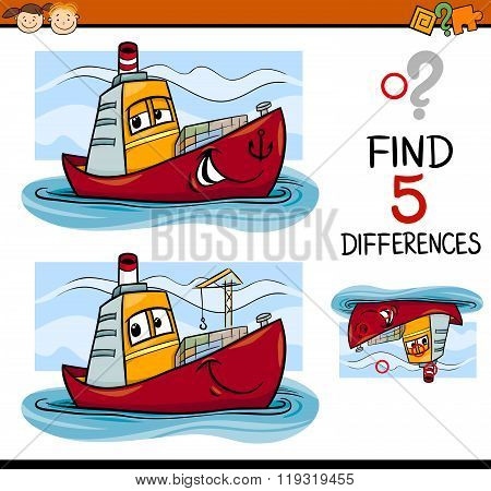 Find The Differences Task For Kids