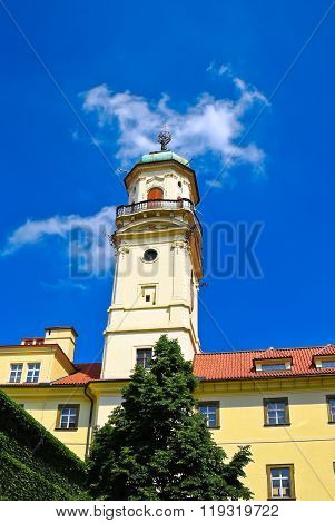 Astronomical tower in Klementinum, the center of Prague