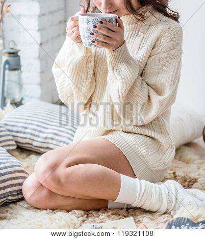 women with hot chocolate