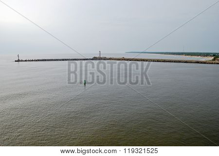 View of the Baltic Sea from the breakwater