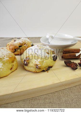 Stollen scones