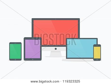 Devices Vector Illustration