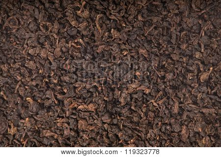 Texture of roasted Tieguanyin, variety of Oolong tea