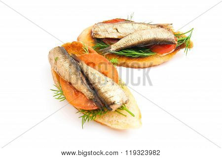 Pair Of Sandwiches On White