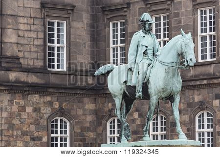 Front View Of The Main Building And The Platz In Front Of Christiansborg Slot Palace In Copenhagen,