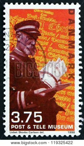 Postage Stamp Denmark 1998 Postman