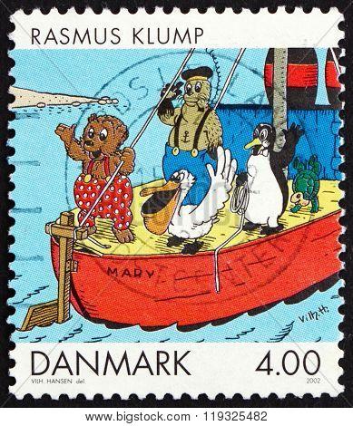 Postage Stamp Denmark 2002 Rasmus Klump, Comics