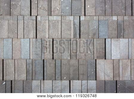 building's stone block facade