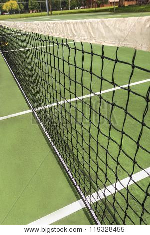 A Net From A Tennis Court