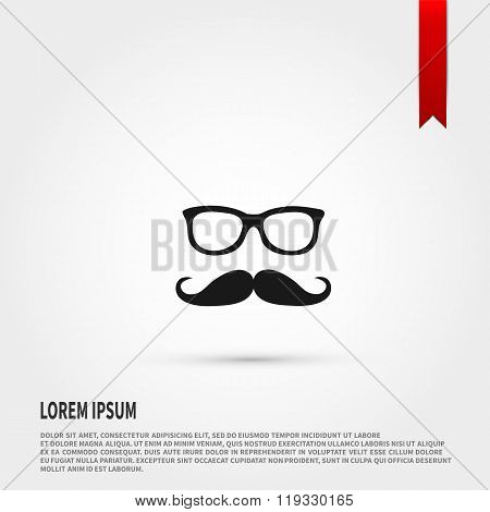 Mustache and Glasses icon.