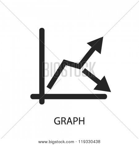 graph icon, graph logo, graph icon vector, graph illustration, graph symbol
