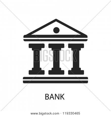 bank icon, bank logo, bank icon vector, bank illustration, bank symbol