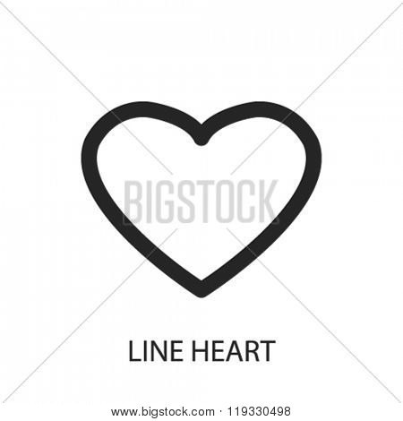line heart icon, line heart logo, line heart icon vector, line heart illustration, line heart symbol, line heart isolated, line heart image, line heart drawing, line heart concept
