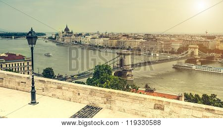 view on Budapest and Danube