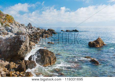 Black Sea wild water-scape - Crimean shore