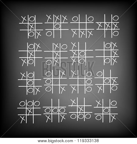 Children's Game A Tic-tac-toe