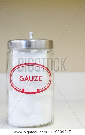 Jar of gauze