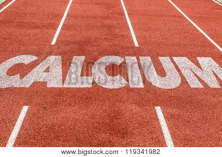 Calcium written on running track