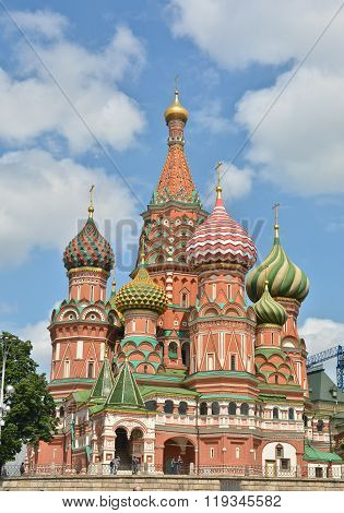 Pokrovsky Cathedral On The Red Square In Moscow.