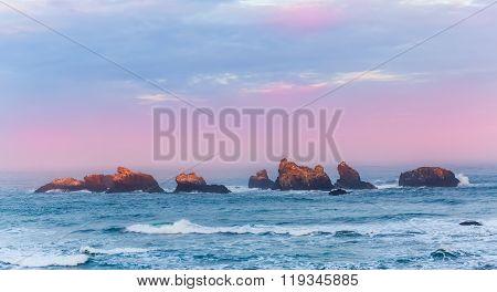 Sunrise at Bandon Beach