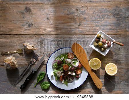 Mediterranean Food Background