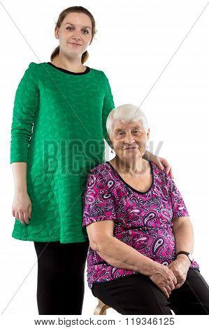 Happy grandma and granddaughter