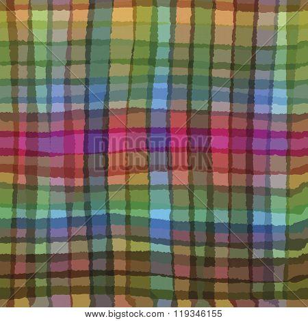 Multicolor vector checkered pattern