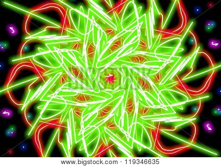 abstract background glowing patterns
