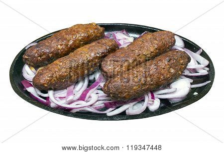 Kofta Kebabs On A Sizzling Plate
