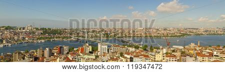 Panoramic view of Istanbul's Golden Horn