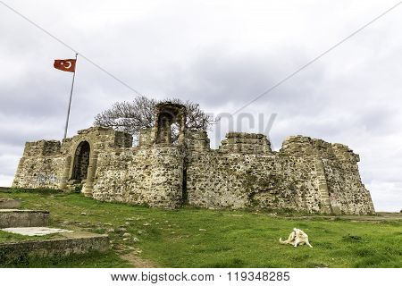 Riva Castle Is A Byzantine Coastal Fortification Situated On A Hill