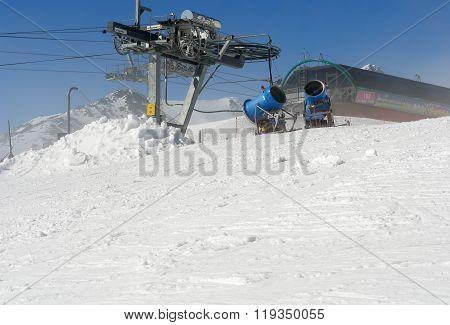 Snow Canons In Tatras.