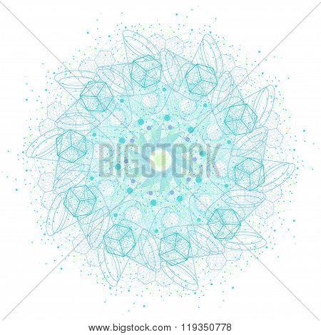 Sacred Geometry Symbols And Elements Mandala