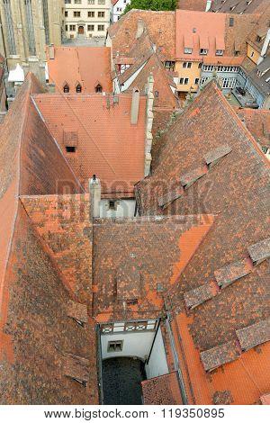 Rothenburg Ob Der Tauber, Bavaria, Germany.