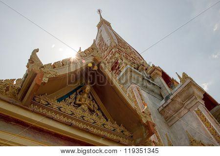The beatiful Wat Chalong temple, Phuket, Thailand